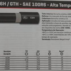 Mangueira hidráulica SAE 100R6