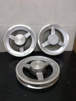 polia de aluminio
